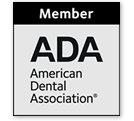Member of Ada - American Dental Association® logo